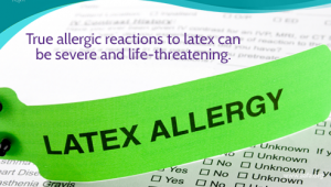 gelang pasien hijau alergi latex